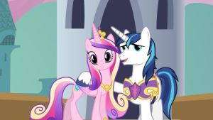 Princess Cadence and Shining Armor by SawyerMoonKitty