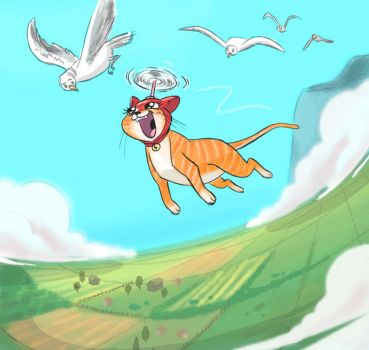 Flying meow meow by ktshy