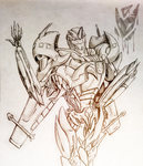 Transformers Prime Concept Starscream by Twistanturnu