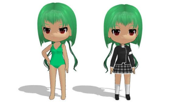 Chibi Emerald Sustrai (Base and Haven) by EpicMoon