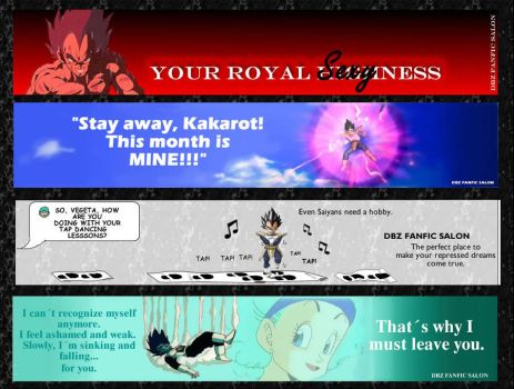 Vegeta Month banners by SilverLady7