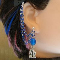 Castle Cartilage Chain Earring by merigreenleaf