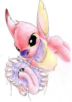 Daily Drawing Day 215 Experiment 627 by MidnightHuntingWolf