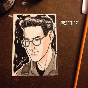 Egon sketchcard by Scott-Lost