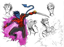 NIGHTCRAWLER SKETCH by Sabrerine911