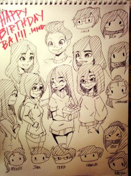 Birthday Doodle for a Friend by DanchouLoli-chi