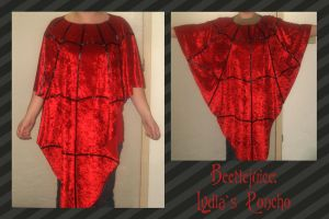 Beetlejuice: Lydia's Poncho by FangsAndNeedles