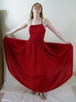 Long Red Dress 4 by chamberstock