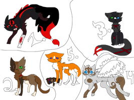 Bastille adopts (Bids) by FireBurstCat