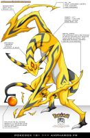 Pokedex 181 - Ampharos FR by Pokemon-FR