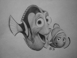 Dory and Marlin by hglucky13
