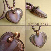 Tough Love - Heart Necklace by popnicute