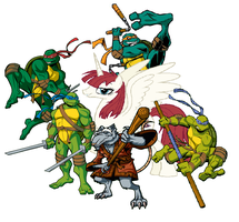 The Turtles and Lauren Faust by DinobotEd