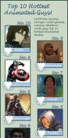 Top 10 Hottest Animated Guys by wolfgrl1492