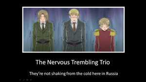 The Nervous Trembling Trio by bdaycrazy