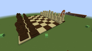 Minecraft Chess Set by elbarnzo