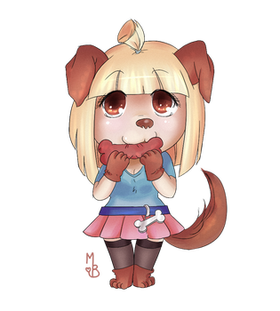Chibi puppy-girl by MaryBrownie