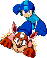 Megaman on Rush by Rustico35
