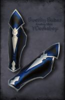 Druchii assassin's male leather armor - Greaves by Svetliy-Sudar