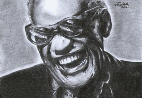 Ray Charles - Portrait by janston