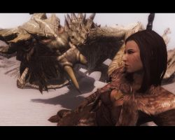 Septima and Paarthurnax (pic 2) by JaneShepard89
