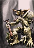 Charr warrior with lute by saportfolio