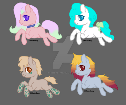 Pony Adopts 1 [OPEN 4/4] by Phoebe-Adopts