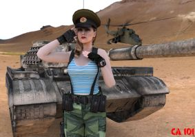 Afghan-Soviet War Pin Up by CharonA101