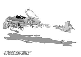Star Wars - Speeder-Bike by Paul-Muad-Dib