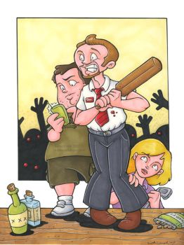 Shaun of the Dead by katiecandraw