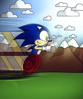 Sonic Zooming by Sonic-Gal007