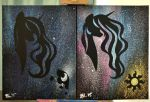 The Two Sisters Splatter Paintings by shyredd