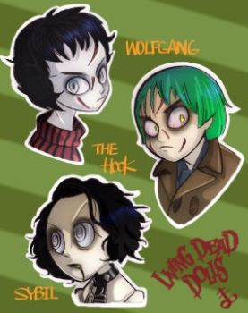 Wolfgang, The Hook and Sybil by rotten-orange
