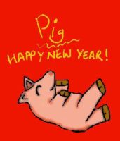 Happy New Year of the Pig by dwinky