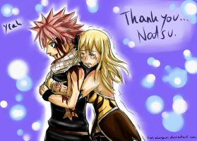 Thank you ... Natsu (colored) by Reikma