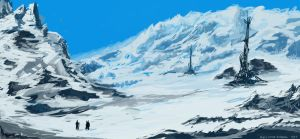 Mountain Snowscape by NielsHoyle-Dodson