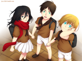 Snk - Kid Trio by feshnie