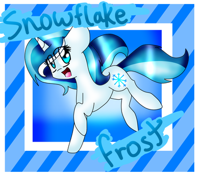 Snowflake Frost by DoctressWhooves11