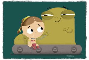 Jabba likes what he sees... by JeffVictor
