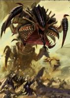 Tyranid Mawloc Artwork by Zergwing