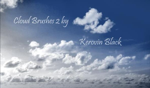 Cloud Brushes 2 by KerovinBlack