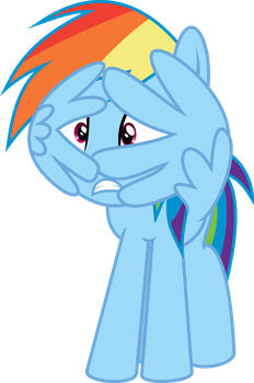 Rainbow Dash frightened by iscord