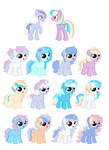 BlueBerryTart and ShimmerGlow OFFER TO ADOPT 1left by SeaStarOceans