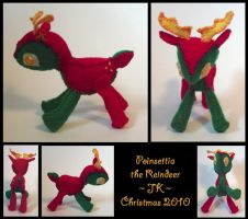 Poinsettia the Reindeer by VampirateMace