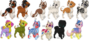 11 Free Puppies ~Closed~ by juskowuff