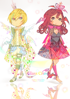 Glass Crown Auction Adoptables: {CLOSED} by WanyaaGoAdopts