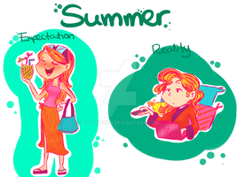 Summer- Expectation and Reality by flavia0028