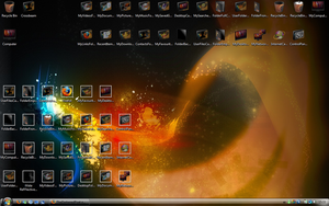 My Desktop July 2008 by TheDarkenedPoet