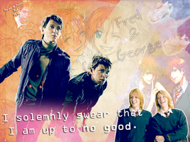 Weasley twins wallpaper by panikosa