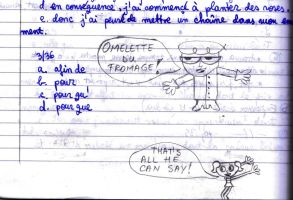 Just Dexter on my French notebook by through-the-dark